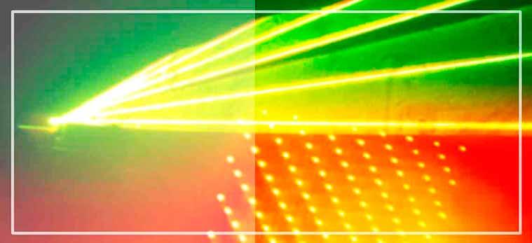 Musica e iluminación de la discoteca mobil en la verbena contratada por la comisión de fiestas